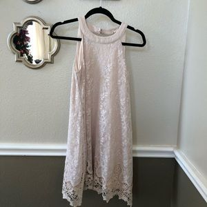 altar'd state lace  haltered neck dress size small
